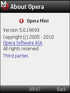 Opera Mini 5.0.19693