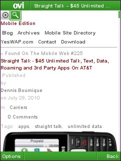 Ovi Browser - Column View