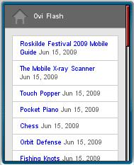 Ovi Flash Mobile Website