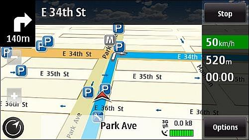 Ovi Maps Free Navigation - New York City