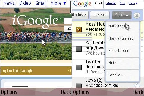 Ozone iGoogle and IPhone Gmail Floaty Bar