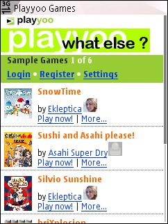 Playyoo home page