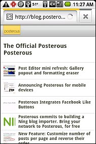 Posterous Mobile 