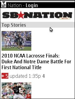 SB Nation Mobile