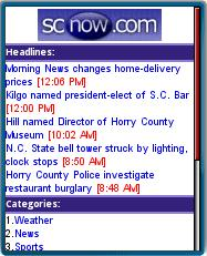 SCnow Mobile Web Site