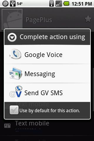 Send SMS by Google Voice or GV
