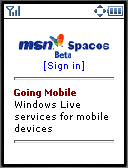 Spaces main page