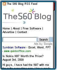 The S60 Blog's Mobile Site