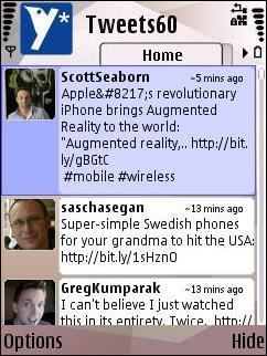 TweetsS60 App
