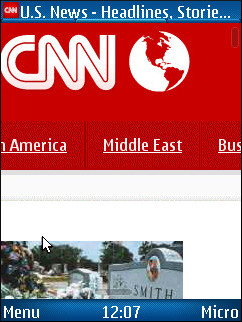 UC Browser 7.2 - CNN