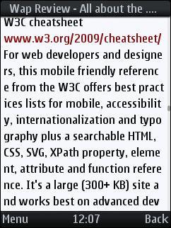 UCWEB 6.3 - Word Wrap Broken