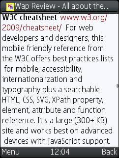 UCWEB 7.0 Beta 2 - Word Wrap Works! 