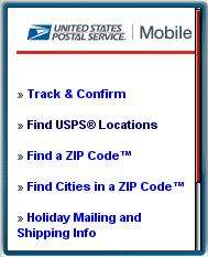 USPS Mobile Web Site