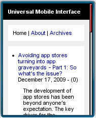 Universal Mobile Interface
