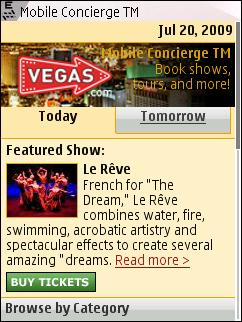 Vegas Mobile Concierge on N95