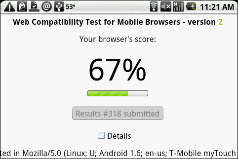 W3C Web Compatibility Test for Mobile Browsers - Version 2