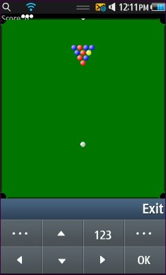 Java ME Pool game OnSamsung Wave