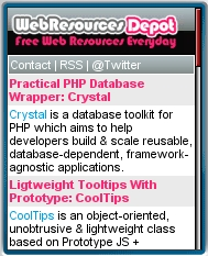 Web ReSources Depot Mobile View