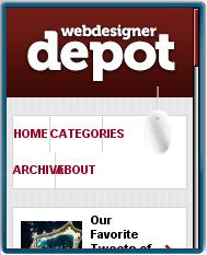 Web Designer Depot Mobile View