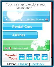 WhereTraveler Mobile Homepage