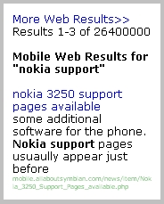  Y! Mobile Search results Image  