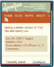 Aimelise Mobile View