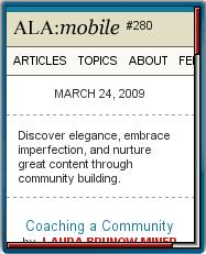 ALA:mobile - Homepage