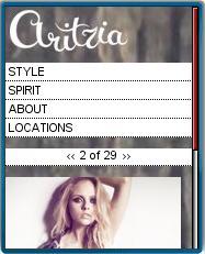 Aritzia Mobile Site