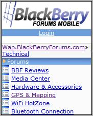 BlackberryForums Mobile