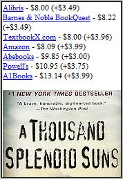 BestBookBuys Mobile - Book detail page