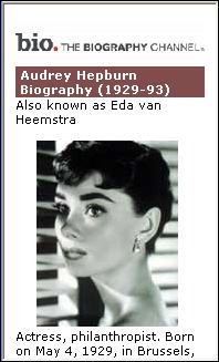 Bio. - Audrey Hepburn
