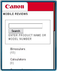 Canon Review Mobile Site