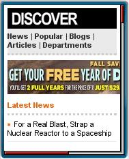 DiSCOVERMagazine Mobile
