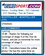 Eurosport Live Mobile Tour de France