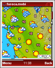Forceca Weather Map