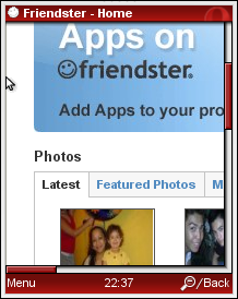 Full Friendster in Opera Mini