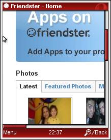 Full Friendster in Opera Mini