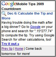 Google Mobile Tips