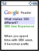 Google Reader Mobile