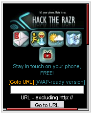 Hack The RAZR Mobile Site