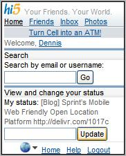 Hi5 Homepage
