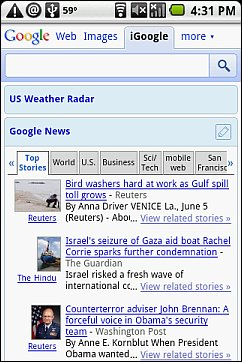 iGoogle on Android 