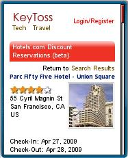 KeyToss Hotel Listing