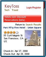 KeyToss Hotel Listing