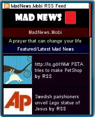 Mad News Mobile Homepage