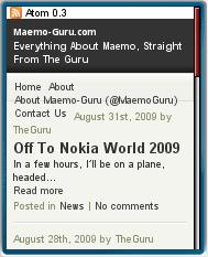Maemo-Guru Mobile Website