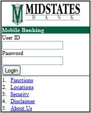 Midstates Bank Mobile Banking