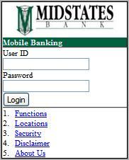 Midstates Bank Mobile Banking