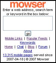 Mowser Homepage