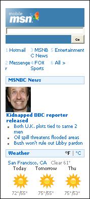 MSN Homepage